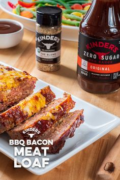 Looking for a Keto-Friendly dinner option? This delicious BBQ Bacon Meatloaf uses a combination of Kinder's The Blend and Zero Sugar Original BBQ Sauce. Low Carb Chicken Recipes, Low Carb Recipes, Bacon Meatloaf, Bbq Bacon, Bariatric Recipes, Keto Dinner, Keto Snacks, Low Carb Keto, Food Dishes