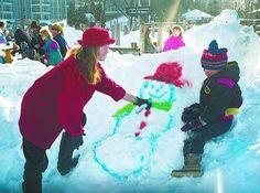 winter fun - snow painting