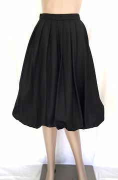 Vintag 80s Tally Boutique Black Bubble Skirt w Tulle Lining Size 8 - Near Mint  #Tully #Bubble