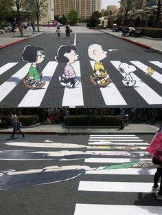 Peanuts Abbey Road.