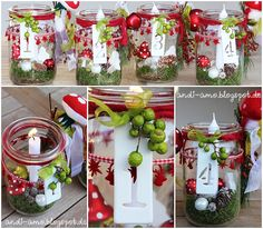 Adventskranz 2015 Adventskranz im Weckglas Stampin Up Demo Andrea Schwetz Nördlingen The post Adventskranz 2015 appeared first on Glas ideen. Christmas 2017, Winter Christmas, Christmas Time, Christmas Wreaths, Christmas Crafts, Advent Candles, Advent Wreath, Ideias Diy, Theme Noel