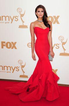 Nina Dobrev - 63rd Primetime Emmy Awards - Arrivals, LA, Sept 18,2011