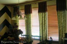 Orange & Turquoise Window Treatments   Beyond the Screen Door