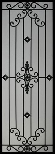 Wrought Iron Door Inserts - Dalemont 22x64