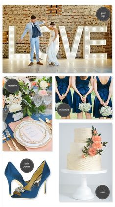navy and blush winter wedding theme - Google Search