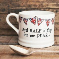 Just half a cup for me dear  Quintessentially British - Sweet William Designs Union Jack Bunting