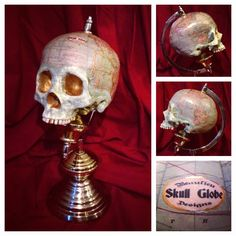 Skull Globe #skull #globe #world #map #beaulieudesigns