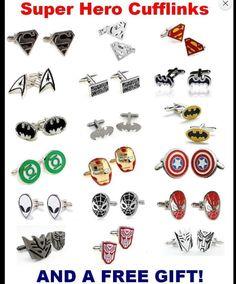 Bad hero Cufflinks Comic hero face Cuff links Art Gifts Superhero cuff link Gift for him