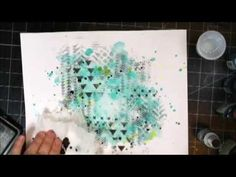 Christin Gronnslett Making a layout background watercolor style.