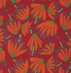 Shop | Category: Fabric Designers - Other | Product: KAFFE COLLECTIVE SPRING - LAZY DAISY - RED - PWBM044.REDXX