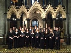 The Palestrina Singers of Cardiff University led evensong at Dublin's Christ Church Cathedral yesterday