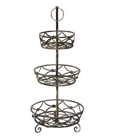 Another great find on #zulily! Three-Tier Basket Stand by Privilege #zulilyfinds
