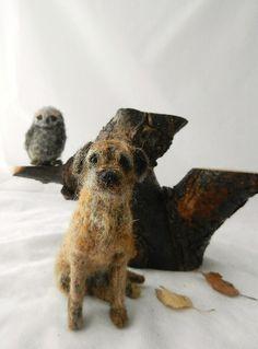 border terrier,needle felted,