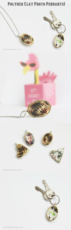 I love custom handmade gifts, especially if they include a photo. My little Polymer Clay Photo Pendants are perfect gifts to share to spread the love!