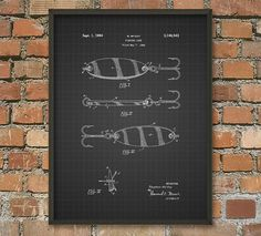 Fishing Lure Patent Wall Art Poster