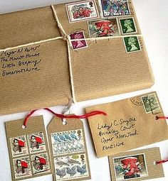 old fashioned parcel