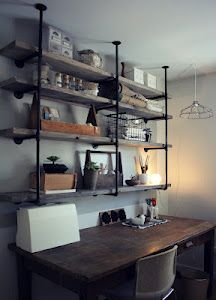 industrial rustic shelves