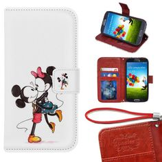 Samsung Galaxy S5 Wallet Case, Onelee - Mickey Mouse Premium PU Leather Case Wallet Flip Stand Case Cover for Samsung Galaxy S5 with Card Slots