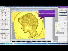 Видео создания барельефа для фрезеровки - YouTube