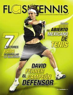 David Ferrer en la portada de Flashtennis No. 3    www.flashtennis.com