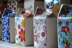 look what you can do with milk cartons..vases anyone?