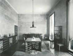 Villa Necchi Campiglio | original dining room and furniture | Portaluppi