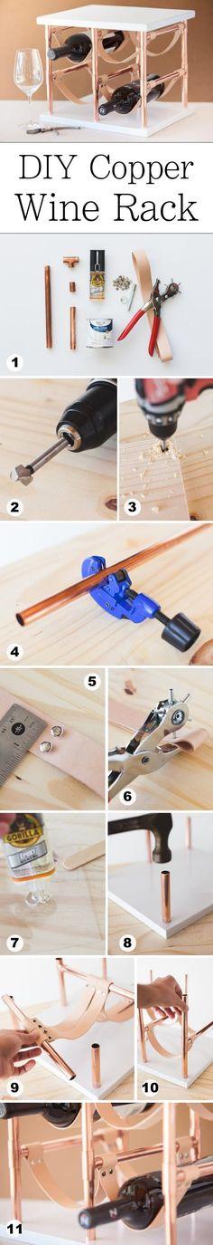DIY Kupfer Weinregal