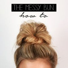 Finally...The hair tutorial we know you have all been waiting for! We love big buns (we cannot lie), and we are so excited to share your newest go-to hairstyle