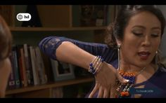 """Pulsera y collar To Shine® en TN """"Mis Tres Marías"""" - América TV.   Puedes pedirlos desde 3 unidades al (+51) 952 203 264 y a ventas@toshinego.com  -pulsera PP0091 y collar CP0125-."""