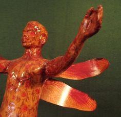Male Nude Folk Art Figure Sculpture, Museum Exhibited, Naked Fairy Boy Statue Sculpture Museum, Museum Exhibition, Altered Art, Folk Art, Naked, Sculptures, Fairy, Statue, Etsy