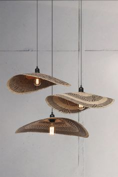 """'WIMBI' / """"Wave"""" in Swahili Hand woven from palm and wicker They are seriously beauty at all angles Lampshades, Kitchen Lighting, Angles, Wicker, Hand Weaving, Wave, Ceiling Lights, Traditional, Inspiration"""