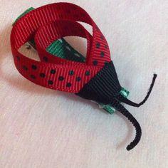 Ladybird sculpture hair clip @ $4.50