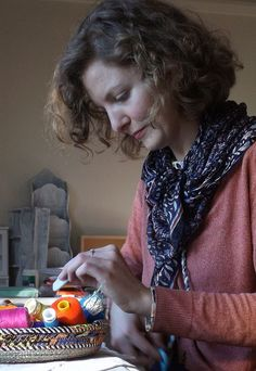 Alex Falkiner, textile artist and tinkerer - Artist in residence at Strathnairn Arts August - September 2014.
