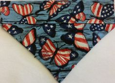 Butterfly, Patriotic, Dog Bandana!!! by DogGoneGoodBandanas on Etsy