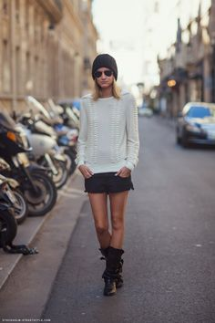 this is cute (pictured: Nathalie) #streetstyle #fashion