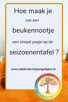 In dit artikel simpele diy voor het maken van een simpel popje van een beukenootje voor op de herfst seizoenentafel | seizoenstafel | seizoentafel | antroposofisch | vrije school School