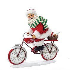 "10""SANTA RIDING #BICYCLE"
