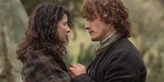 Here's a new still of Sam Heughan and Caitriona Balfe as Jamie and Claire Fraser See the other still after the jump - via @AmazonVideoUK