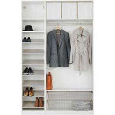 IKEA PAX Wardrobe with interior organizers, white, Tanem green (700 CAD) ❤ liked on Polyvore featuring home, home improvement, storage & organization, casa and moveis