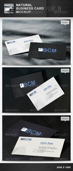 Natural Business Card Mockup 5 #GraphicRiver - 3 .psd files - replaceable Smart-Objects - 2400×1600 pixels How to use: To apply your own business cards, double click the layer miniature icon of a Smart-Object and a new window will open. Just load your bussinesscard into the window and save it. If you return to the original dokument, the businesscard is already updated. Related Products: Created: 27March12 GraphicsFilesIncluded: PhotoshopPSD HighResolution: No Layered: Yes…