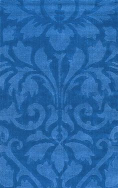 Spectrum Modern Damask Blue Rug | Contemporary Rugs