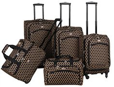 American Flyer Favo 5Piece Spinner Luggage Set Honey Gold One Size * Click image to review more details.