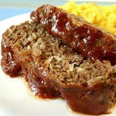 Meat Loaf Crock pot: Melt-In-Your-Mouth Meatloaf - , use oatmeal and sweetner instead of bread and brwn sug.Crock pot: Melt-In-Your-Mouth Meatloaf - , use oatmeal and sweetner instead of bread and brwn sug. Easy Casserole Recipes, Crockpot Recipes, Cooking Recipes, Hamburger Meat Recipes, Meatloaf Recipes, Meatball Recipes, Recipe Fo, Allrecipes Recipe, Great Recipes