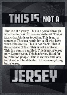 This advert for a replica All Blacks rugby shirt. I love how the describe it All Blacks Rugby Shirt, Nz All Blacks, Rugby League, Rugby Players, Sport Football, Rugby Sport, Football Cleats, Soccer, Rugby Rules