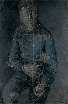 Abstract Portrait, 1927. Pavel Tchelitchew. Mixed media on canvas.