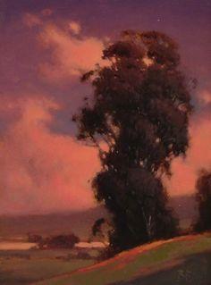 Tonal Eucalyptus by Brian Blood - Oil Impressionist Landscape, Landscape Art, Landscape Paintings, Landscapes, Seascape Paintings, Oil Paintings, Blood Art, Traditional Paintings, Traditional Art