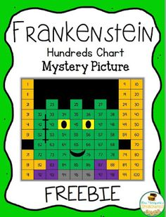 Classroom Freebies: Free Frankenstein Hundreds Chart Mystery Picture Halloween Math, Halloween Activities, Holiday Activities, Math Activities, Math Resources, Monster Activities, Math Games, Halloween Crafts, Teacher Freebies