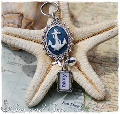 US Navy anchor cameo cluster necklace by Son and Sea free US shipping for Navy mom, sister, grandma, girlfriend, milso ~ deployment, homecoming, PIR