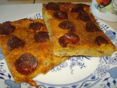 Krížikové vyšívanie Pepperoni, Pizza, Food, Essen, Meals, Yemek, Eten