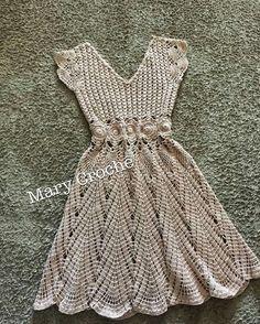 Sweet as Sugar Dress Crochet pattern by highinfibre Gilet Crochet, Crochet Blouse, Crochet Lace, Crochet Stitches, Crochet Skirts, Crochet Clothes, Clothing Patterns, Dress Patterns, Crochet Designs